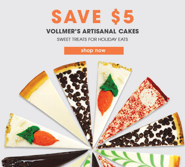 Save $5 on Vollmers cakes