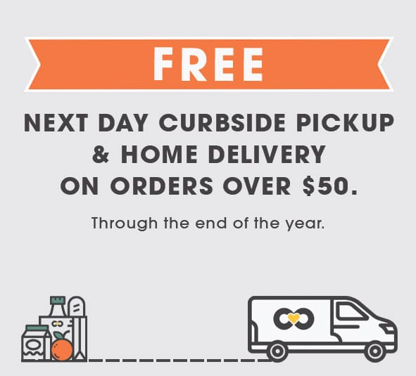 Free home delivery and curbside pickup